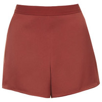 Wrap Front Shorts - Rust
