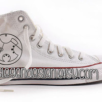 Your Name in Gallifreyan 'Painted Shoes' / Dr. Who