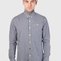 Weekend Offender Harrelson Long Sleeve Shirt - Navy
