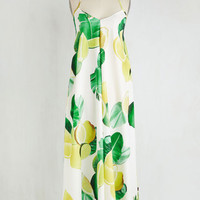 Fruits Long Sleeveless Maxi Got the Tang of It Dress