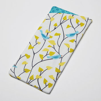 Sunglasses Case, Eyeglasses Case, Glasses Case - Birds in Branches