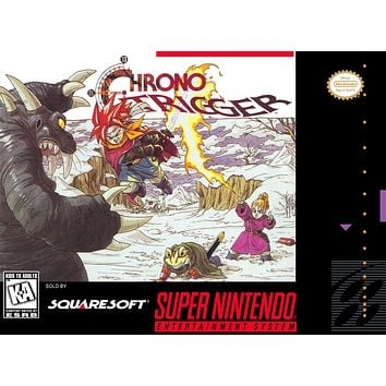 Retro Chrono Trigger Game Poster//SNES Game Poster//Video Game Poster//Vintage Game Reprint