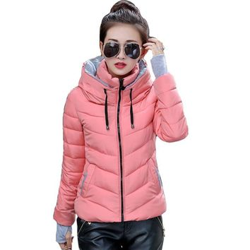 Womens Jacket Coat Parka Hooded Warm New Thicken Puffa semi fitted lightweight