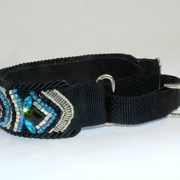Greyhound Saluki Whippet One-of-a-Kind Handmade Beaded Luxurious Designer Dog Collar