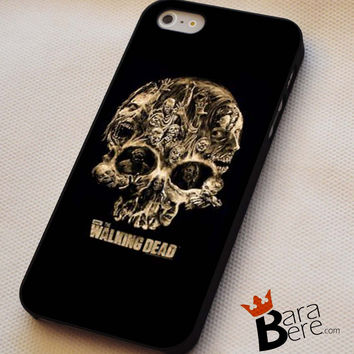 The Walking Dead Skull iPhone 4s iphone 5 iphone 5s iphone 6 case, Samsung s3 samsung s4 samsung s5 note 3 note 4 case, iPod 4 5 Case
