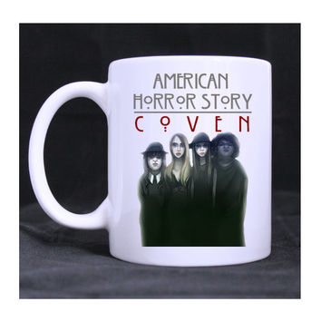 American Horror Story Coven On Wednesdays We Wear Black 11oz ceramic mug