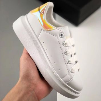 Alexander McQueen White Yellow Toddler Kid Shoes Child Sneakers - Best Deal Online
