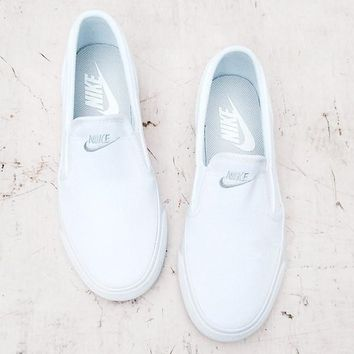 """Nike"" Classic Casual White/Black Canvas Shoes"