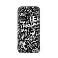 P2744 Hey Hi Hello Pattern Phone Case For HTC ONE M8