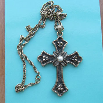 Sarah Coventry peace cross necklace Limited Edition 1975