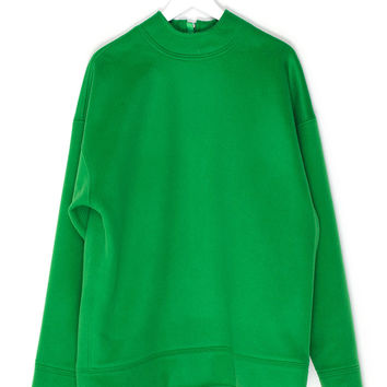 Green Oversized Sweatshirt