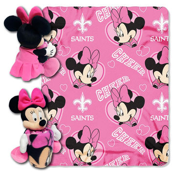 New Orleans Saints NFL Minnie Mouse with Throw Combo