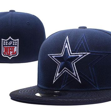 hcxx Dallas Cowboys New Era 59FIFTY NFL Football Hat Blue-White