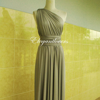 Light Grey Bridesmaid DressLong Dress Wedding Dress Infinity Dress Wrap Dress Sexy Evening Dress Cocktail Dress Party Dress