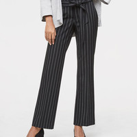 Trousers in Pinstripe Tie Waist in Julie Fit | LOFT