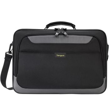 Targus TCG058T-70 CityGear Clamshell Polyester Laptop Case w-DOME Shock Dispersion - Fits 15.6 (Black-Gray)
