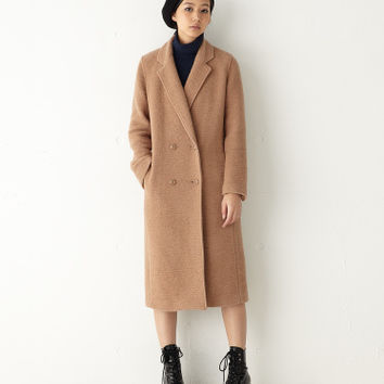 【MOUSSY】WOOL-BLEND DOUBLE BREASTED CT