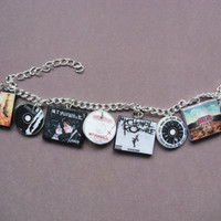 My Chemical Romance album charm bracelet by CharmaLlama on Etsy