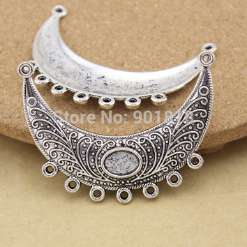 10pcs/lot pendant Link, charms with loop,single-sided curved bar jewelry making charm F1094