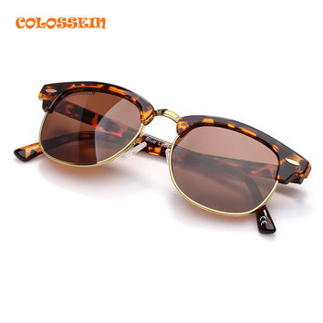 COLOSSEIN Blue Label 2017 Spring Vintage Fashion Women Sunglasses Classic Brown and Gray Colors Polarized Eyewear Sunglasses