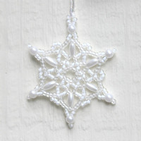 White Snowflake Ornament No. 5