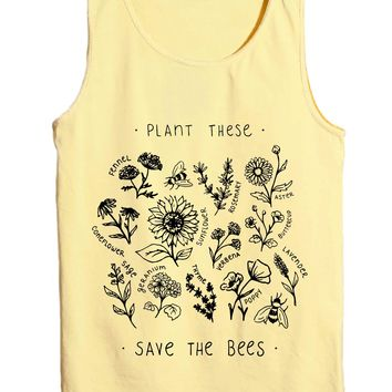 Plant These, Save The Bees - Beach Tank