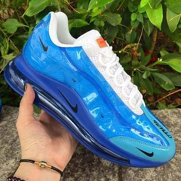 Running shoes men's Nike Air Max 720 Heron Preston Small Hook Blue White