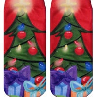Christmas Tree Ankle Socks