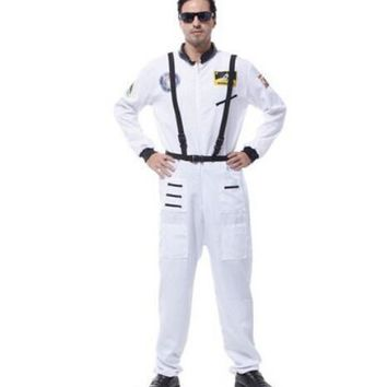 space suit for men space costume pilot costumes for men white astronaut suit uniform costumes halloween suit carnival clothing