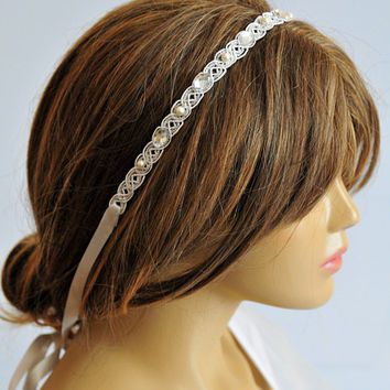 wedding headband, wedding hair accessories, hairband, headpiece, lace, bridal headpiece, head piece, Bridesmaid Gifts, hair,  Gift Ideas