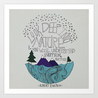 Einstein: Nature Art Print by Leah Flores