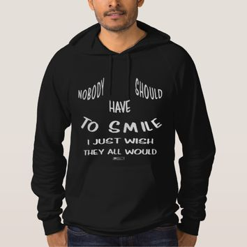 Smile Quote by Kat Worth Hoodie