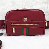 Gucci Fashion casual wild small square bag shoulder Messenger bag