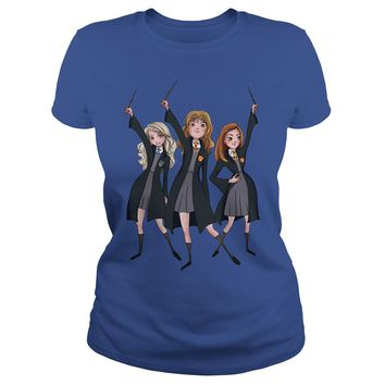 Hermione, Luna Lovegood, Ginny Harry Potter shirt Premium Fitted Ladies Tee