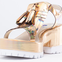How Two Live X Windsor Smith Stern in Gold at Solestruck.com