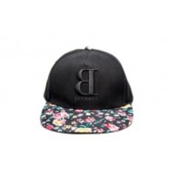 BACKWARDS B FLORAL BRIM CAP
