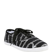 Music Notes Lace-Up Sneakers