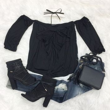 Bow Front Off the Shoulder Top