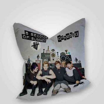 5 Seconds Of Summer Amnesia, pillow case, pillow cover, cute and awesome pillow covers