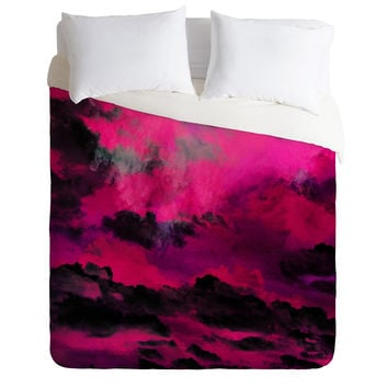 Caleb Troy Raspberry Storm Clouds Duvet Cover