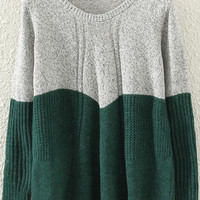 Green Ruched Jumper