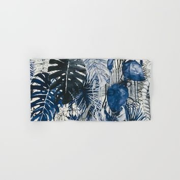 Tropical Plants Hand & Bath Towel by Salome