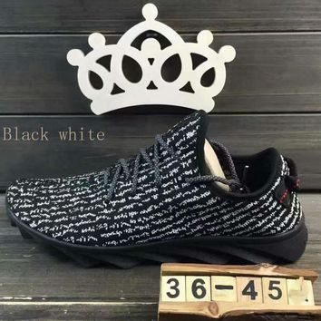 """""""ADIDAS""""Fashion running Classic coconut shoes mesh couples sports shoes Black white"""