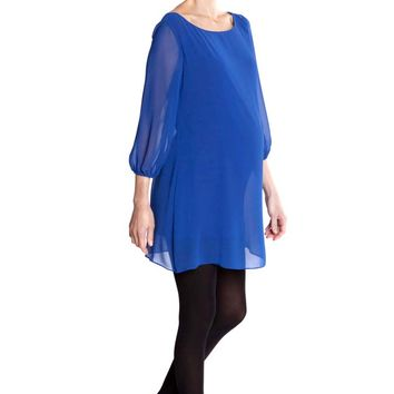 Olian Eliana Chiffon Maternity Tunic Dress
