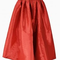 Red Midi Skater Skirt - Choies.com