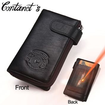 2017 New Men Wallets Genuine Leather Cowhide Multi Functional Car Key Wallet Zipper Male Coin Purse Keychain Housekeeper For Man