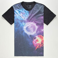 Blue Crown Space Age Mens T-Shirt Charcoal  In Sizes