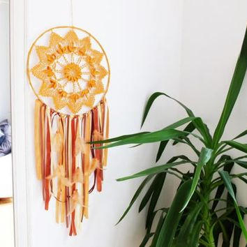Dreamcatcher, Large Dreamcatcher, Boho Dreamcatcher, Boho Wall Hanging, Boho Wall Decor, Doily Dreamcatcher, Crochet Dreamcatcher, Gypsy