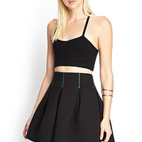 FOREVER 21 Structured Skater Skirt