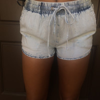 Jenner Acid Wash Shorts